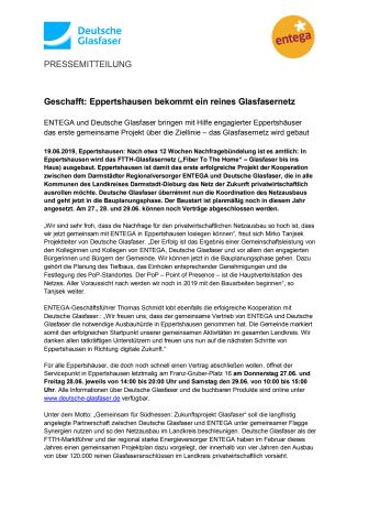 Geschafft: Eppertshausen bekommt ein reines Glasfasernetz