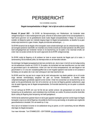 Illegale kansspelwebsites in België : het is tijd om actie te ondernemen!