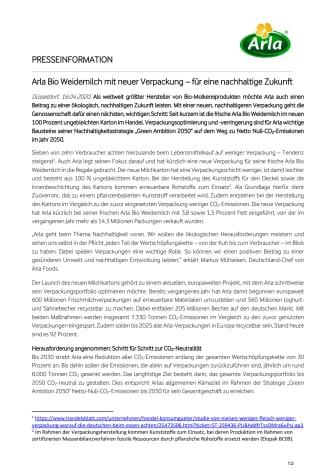 Arla Bio Weidemilch mit neuer Verpackung – für eine nachhaltige Zukunft