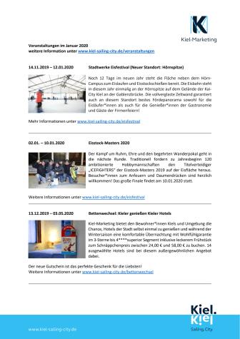 Veranstaltungen im Januar 2020