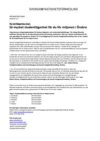 Ny kartläggning visar: Så mycket studentlägenhet får du för miljonen i Örebro