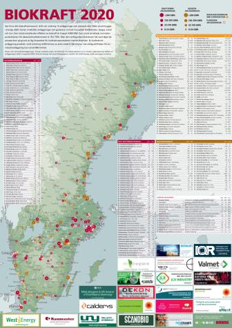 Bioenergis karta: Biokraft i Sverige 2020
