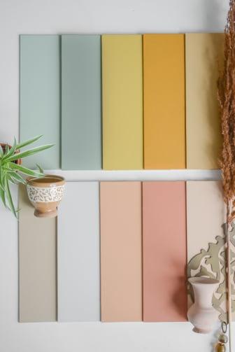 Flexa Binti Home Kleurencollectie palet staand sfeer