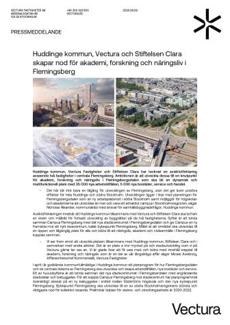 Huddinge kommun, Vectura och Stiftelsen Clara skapar nod för akademi, forskning och näringsliv i Flemingsberg.pdf