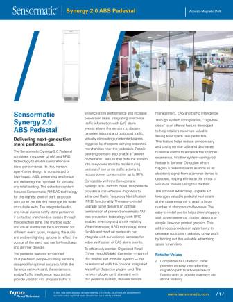 Larmbågar från Gate Security - Sensormatic Synergy 2,0m