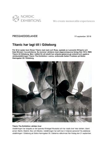 Titanic har lagt till i Göteborg