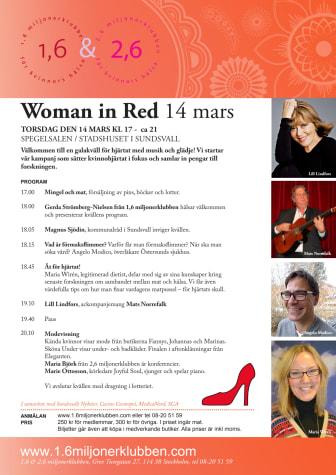 Woman in Red i Sundsvall – en kväll med kvinnohjärtat i fokus!