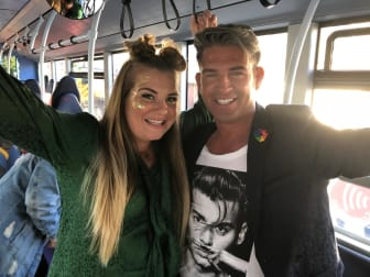 Guests were invited on-board the bus during Sunderland Pride.