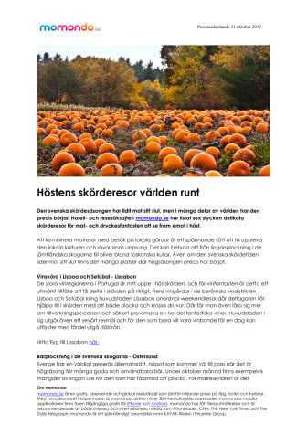 Höstens skörderesor världen runt