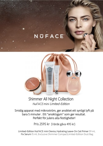 NuFACE Shimmer All Night Collection Mini Julkit 2019 4A Skylt