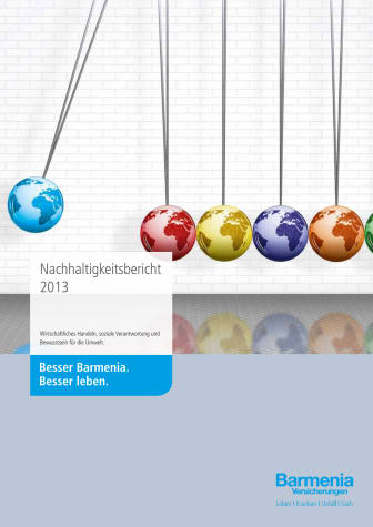 Barmenia Nachhaltigkeitsbericht 2013