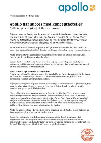 Apollo har succes med koncepthoteller
