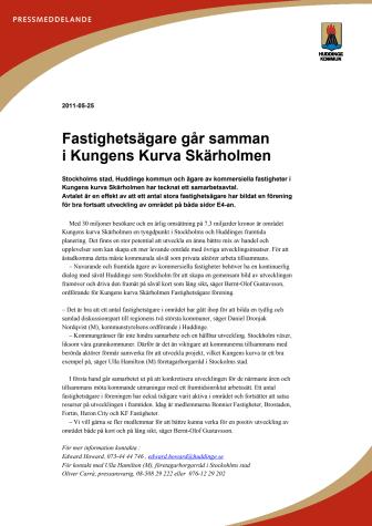 Fastighetsägare går samman i Kungens Kurva Skärholmen
