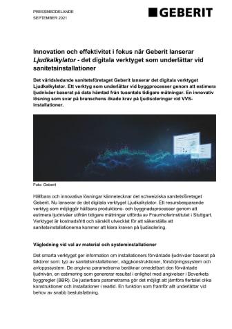 PRESSMEDDELANDE - Geberit Ljudkalkylator.pdf