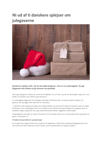 Ni ud af ti danskere splejser om julegaverne
