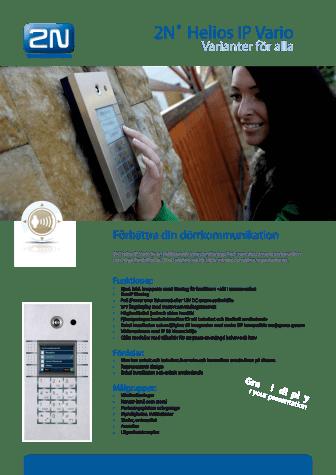 Porttelefoner från Gate Security - 2N Helios IP Vario