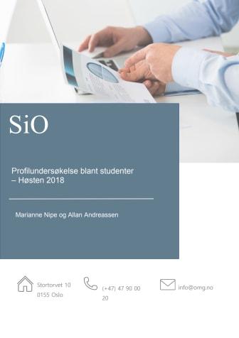 Hovedfunn i SiOs profilundersøkelse