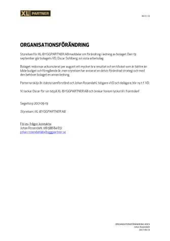 Organisationsförändring