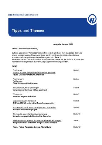 Tipps und Themen 1-2020