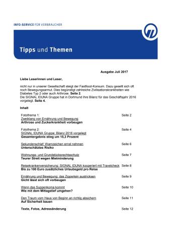 Tipps und Themen 7-2017
