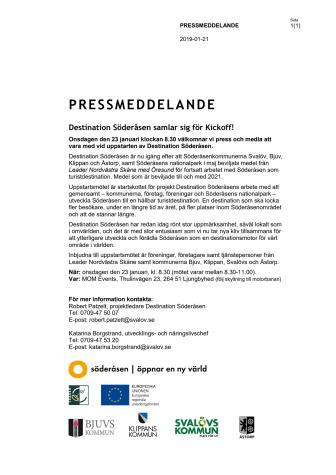 Pressinbjudan: Destination Söderåsen samlar sig för Kickoff!