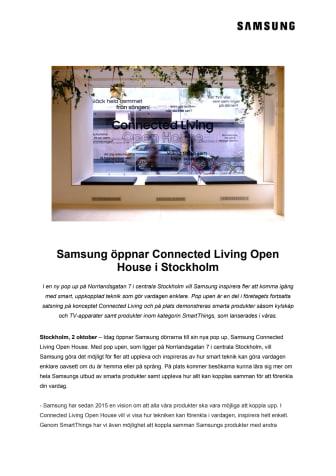 Samsung öppnar Connected Living Open House i Stockholm