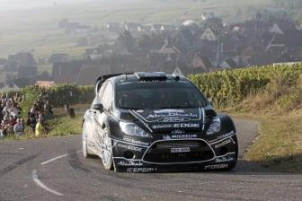 Ford Fiesta RS WRC laddar för fullt under 2011 Rallye de France