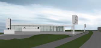 Illustrasjon planlagt bygg Bavaria Bryne