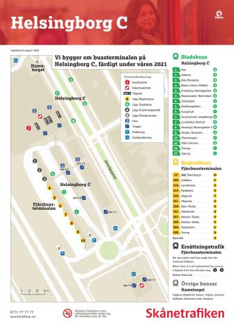 Busshållplatser under ombyggnaden på bussterminalen
