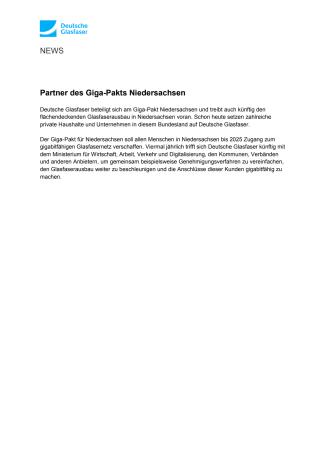 Partner des Giga-Pakts Niedersachsen