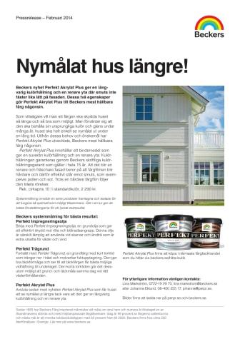 Nymålat hus längre med Beckers nya fasadfärg