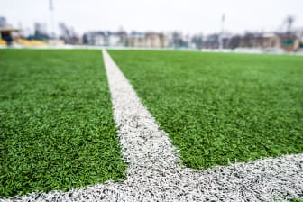 Stock Football Pitch Image