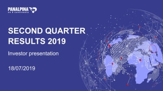 Half-year Results 2019 – Investor Presentation