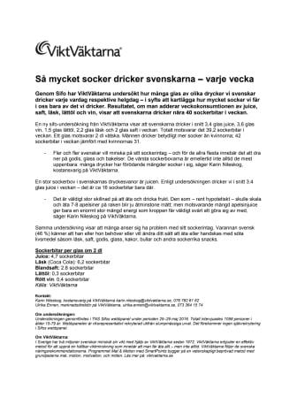 Så mycket socker dricker svenskarna – varje vecka