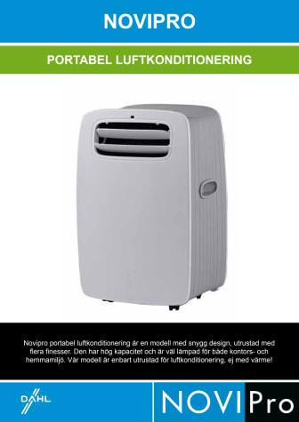 Produktblad NOVIPro portabel luftkonditionering