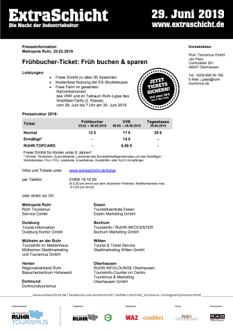 ExtraSchicht 2019_Tickets_Service