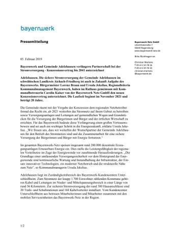 Strom-Konzession: Adelzhausen schenkt Bayernwerk das Vertrauen