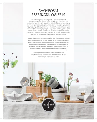 Presskatalog SS 2019 Sagaform