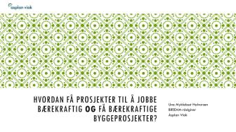 Hvordan få prosjekter til å jobbe bærekraftig? Av Una Myklebust Halvorsen