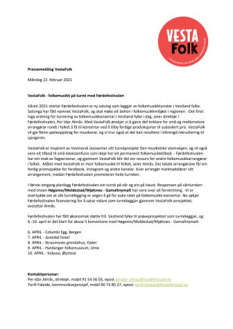 VestaFolk - ny satsing i Førdefestivalen