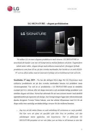 LG SIGNATURE – elegant perfektionism