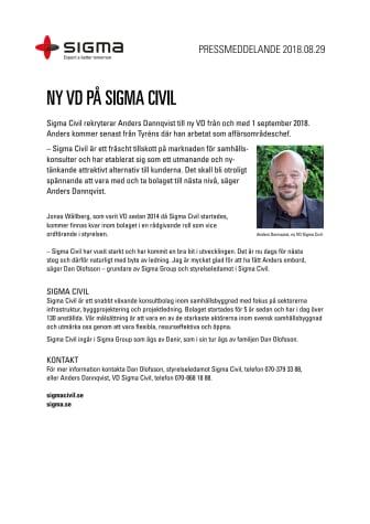 Ny VD på Sigma Civil