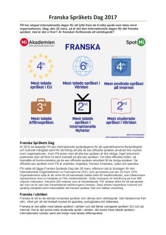 Franska Språkets Dag 2017