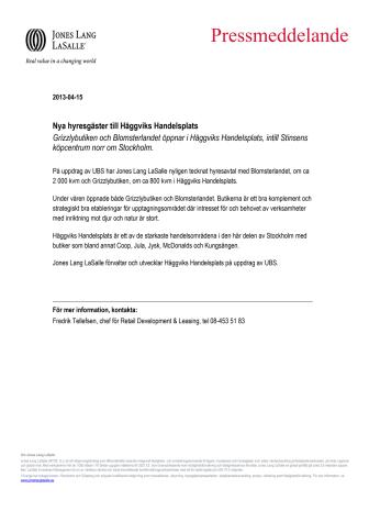 Nya hyresgäster till Häggviks Handelsplats