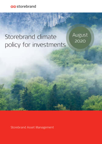 Storebrand Climate Policy for investments