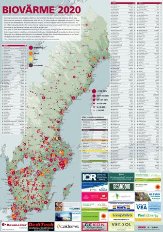Bioenergis karta: Biovärme 2020