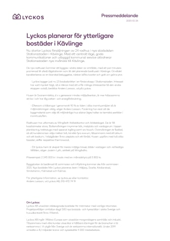 Lyckos planerar för ytterligare bostäder i Kävlinge