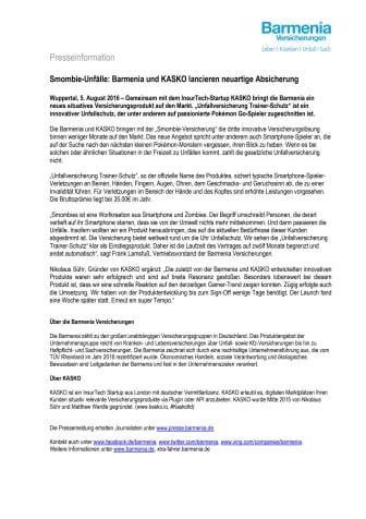 Smombie-Unfälle: Barmenia und KASKO lancieren neuartige Absicherung