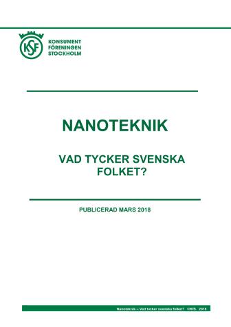 Rapport: Nanoteknik - vad tycker svenska folket?