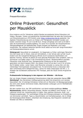 Online Prävention: Gesundheit per Mausklick